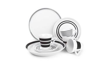 Salt and pepper serviesset Black Stripes