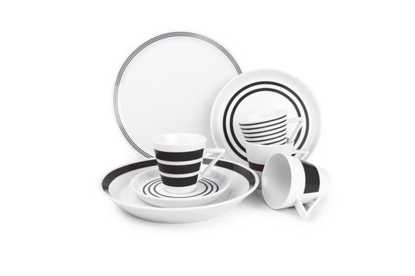 Salt En Pepper Servies.Salt En Pepper Servies Black Stripes
