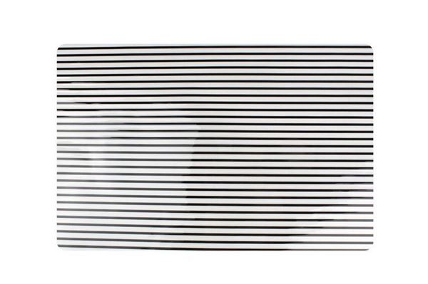 Salt and pepper placemat Black Stripes