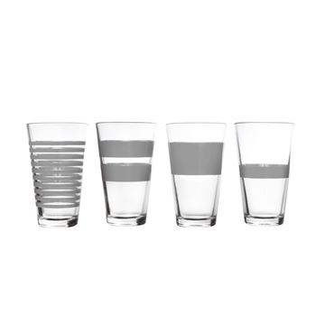 Salt en pepper hoge glazen stripes grijs