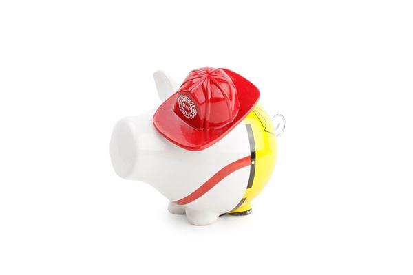 Salt en pepper spaarvarken OINK brandweerman
