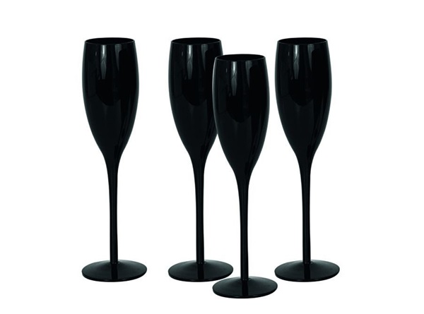 Salt en pepper champagneglazen Black
