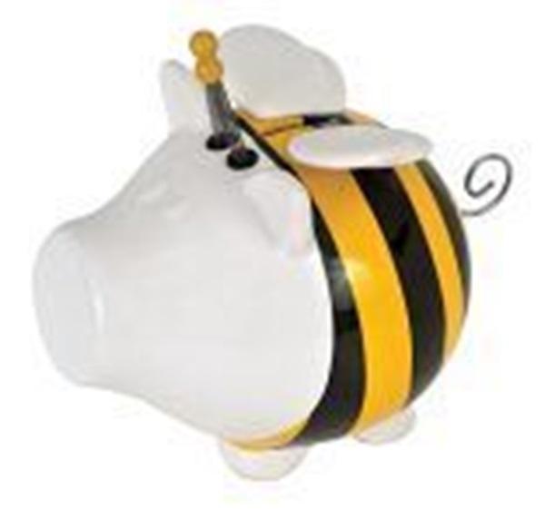 Salt en pepper bumble bee
