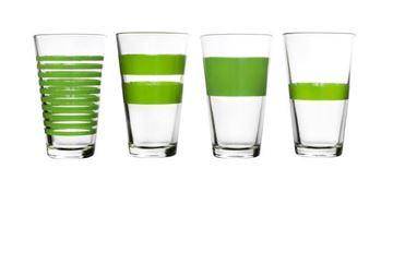Salt en pepper glazen groot green