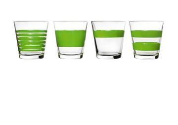 Salt en pepper  lage glazen green stripes