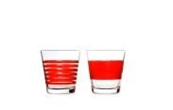 Salt en pepper  lage glazen red stripes