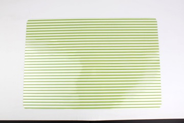 Placemat green stripes
