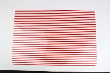 Placemat red stripes
