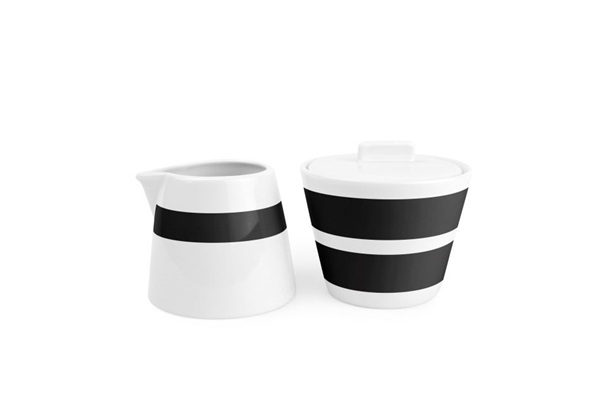 Salt en pepper melk en suikerpot black