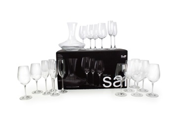 Salt en pepper glazenset salut