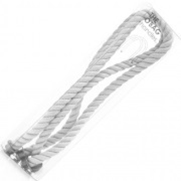 O bag long rope white handles