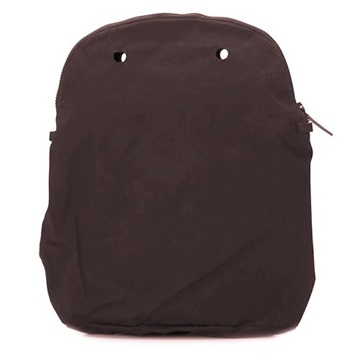 O bag 50 canvas dark brown