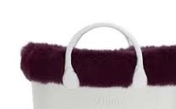 O bag eco fur bordeaux