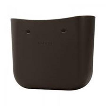 O bag dark brown mini