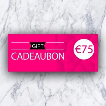 Afbeeldingen van Cadeaubon 75 EURO