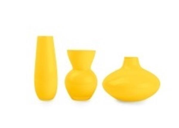 Salt en pepper vaasjes geel
