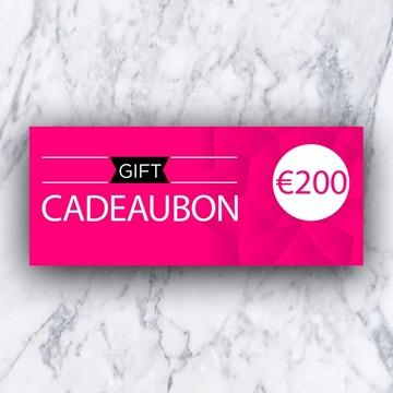 Afbeeldingen van Cadeaubon 200 EURO