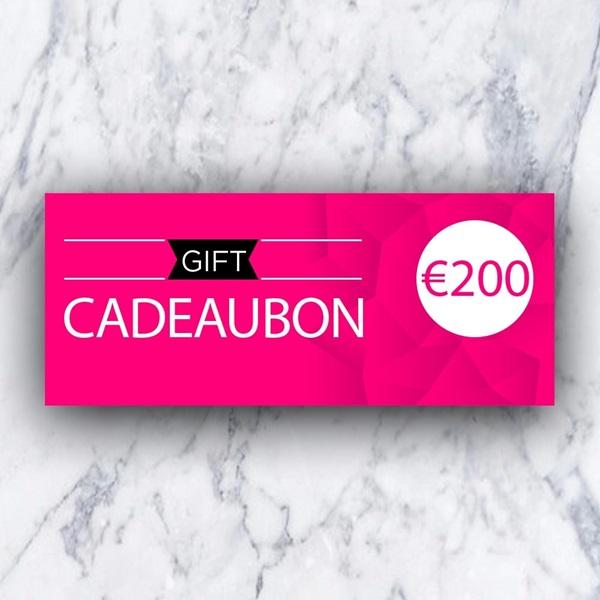 Afbeelding van Cadeaubon 200 EURO