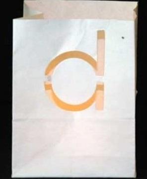 Candlebag letter d