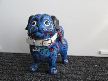 Pomme pidou hond blauw