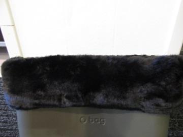 O bag pels zwart