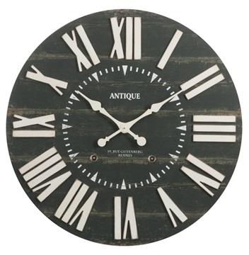 J-line klok hout zwart