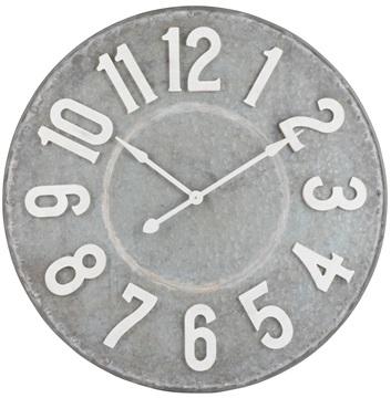 J-line klok grijs