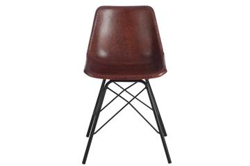 Afbeeldingen van J-line stoel donkerbruin leder