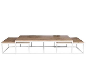 Afbeeldingen van J-line rechthoekige salontafel met 2 bijzettafels