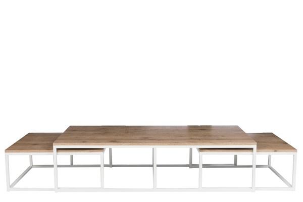 Afbeelding van J-line rechthoekige salontafel met 2 bijzettafels