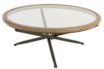 J-line tafel rond hout glas