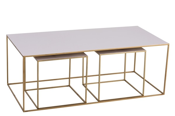 J-line salontafel ijzer goud/blush roos