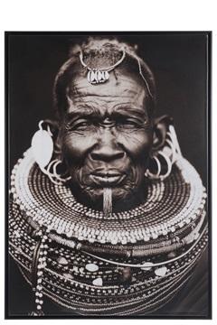 J-line schilderij Afrikaanse man
