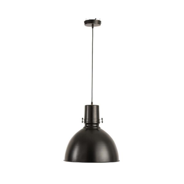 Afbeelding van J-line hanglamp bol ijzer zwart