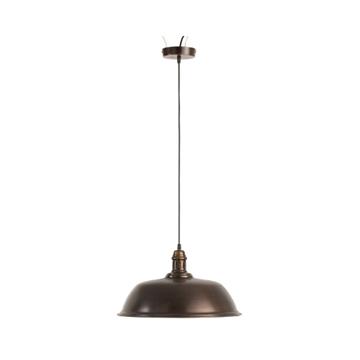 Afbeeldingen van J-line hanglamp rond ijzer donker bruin