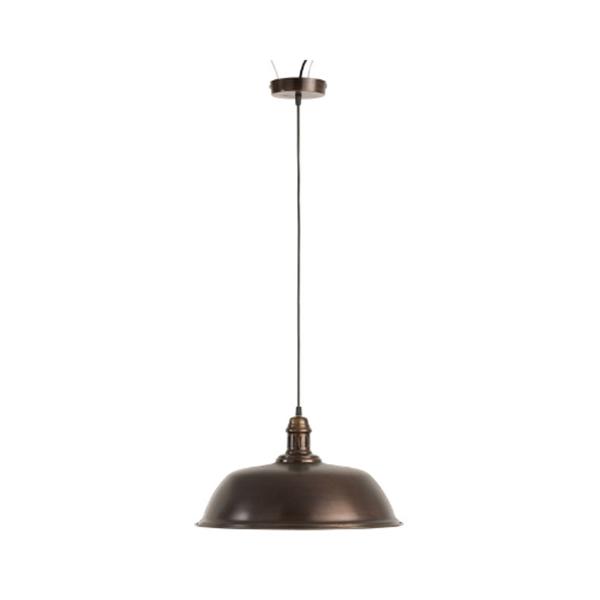 Afbeelding van J-line hanglamp rond ijzer donker bruin