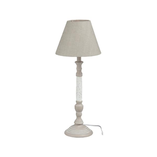 Afbeelding van J-line lamp kant hout grijs/wit M