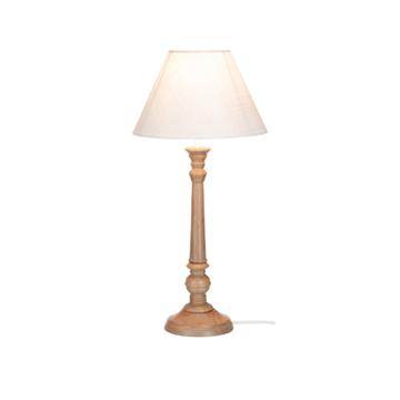 Afbeeldingen van J-line lamp klass hout naturel/wit M