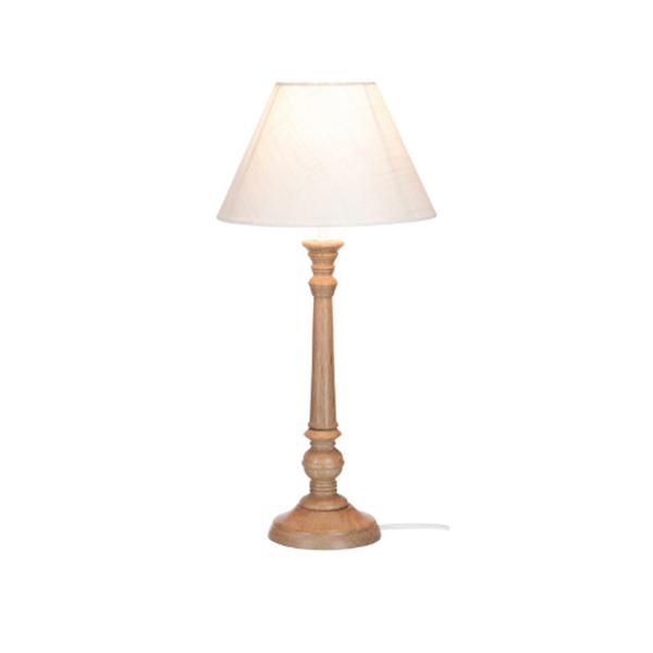 Afbeelding van J-line lamp klass hout naturel/wit M