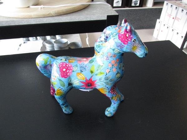 Paard spaarpot blauw