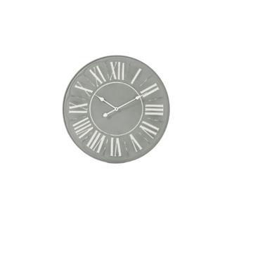 J-line klok metaal grijs