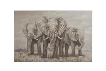 J-line schilderij olifanten