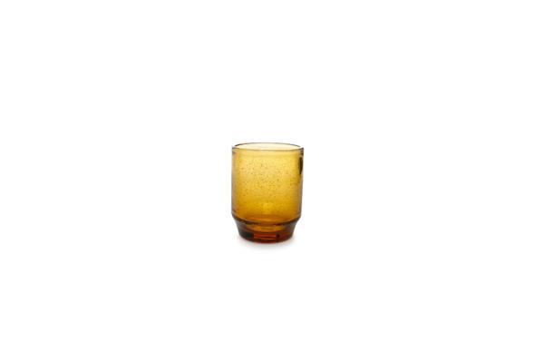 Salt en pepper glazen amber