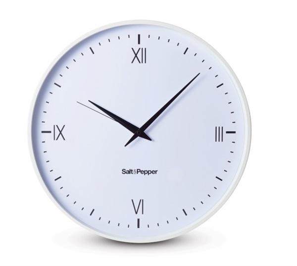 Salt an pepper klok CLOCK 45CM WHITE PRAHRAN ZONE