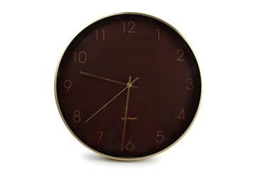 salt and peppersalt and pepper WALL CLOCK 40CM BROWN WITH FRAME GOLD ZONE