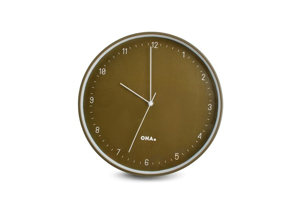 salt and pepper WALL CLOCK 31CM OLIVE PACE