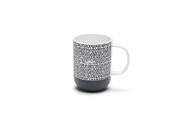 beker mug RAWW 4 pieces salt and pepper black white