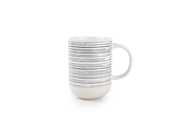 beker MUG 37CL WHITE/BLACK RAWW - SET/4 salt and pepper