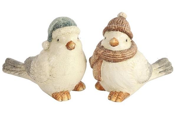 decostar vogel winter groen decoratie winter kerst