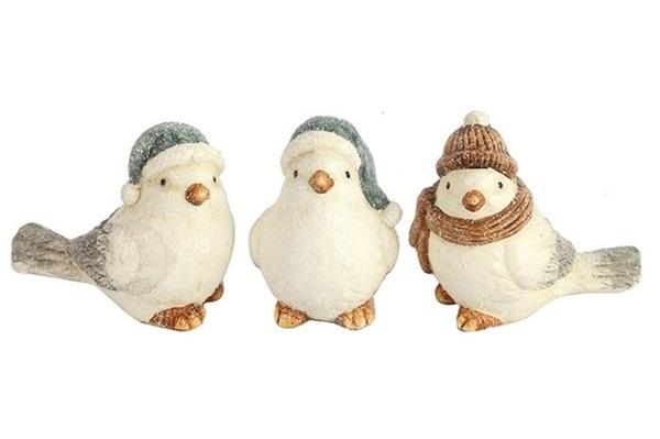 decostar vogel bruin winter kerst decoratie